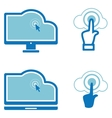 Icons for computer cloud technologies vector image vector image