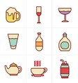 Icons Style Beverage icons vector image