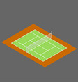 isometric of tennis court flat vector image vector image