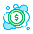 laundered cash money icon outline vector image