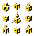 logo set vector image