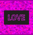 love greeting card with a neon vector image vector image
