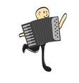 man and accordion vector image vector image