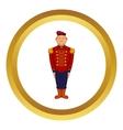 Man wearing army uniform 19th century icon vector image vector image