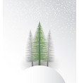natural background with christmas tree vector image vector image