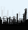 Oil refinery vector image vector image