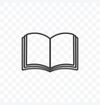 outline book icon on transparent background vector image