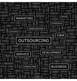 OUTSOURCING vector image