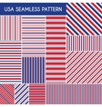 Patriotic red white blue geometric seamless vector image vector image