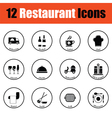 Restaurant icon set vector image