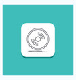 round button for disc dj phonograph record vinyl vector image