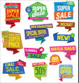 sale stickers and tags colorful collection vector image vector image