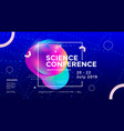 science conference wide poster design template vector image
