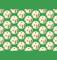 seamless pattern with rounded assets vector image vector image