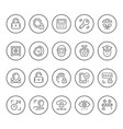 set round line icons security vector image vector image