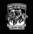 shirt design racer or motorcross sport vector image vector image