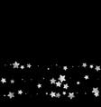 silver star confetti vector image vector image