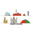 spain canary islands flat landmarks vector image vector image
