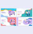 super successful team promotion in social media vector image vector image