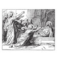 the raising of lazarus vintage vector image vector image