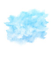watercolor blue paint texture isolated on white vector image vector image