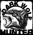 wolf t shirt prints handmade painting vector image