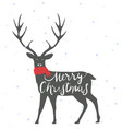 christmas deer background vector image