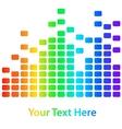 Rainbow equalizer vector image