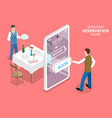 3d isometric flat concept of restaurant vector image vector image
