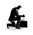 a businessman praying vector image