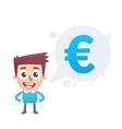 Analysis of the euro currency vector image vector image