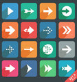 Arrow sign Flat icon set vector image vector image
