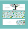 banners design dental clinic vector image vector image