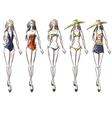 bikini catwalk vector image vector image