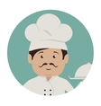 chef character service icon vector image vector image