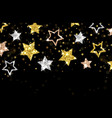 christmas background gold stars banner vector image