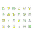 colored school icons symbols of science vector image vector image