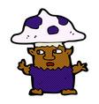 comic cartoon little mushroom man vector image vector image