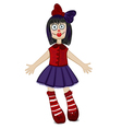 Doll isolated for Halloween vector image