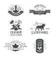 First set of grey vintage craft logo vector image vector image