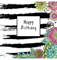 floral birthday card vector image vector image
