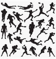 football player silhouettes vector image