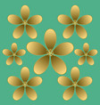 golden flower seamless pattern vector image vector image