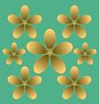 golden flower seamless pattern vector image vector image