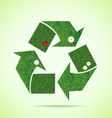 Grass recycle icon vector image vector image