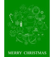 green Christmas symbols vector image vector image