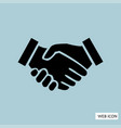 handshake icon handshake icon eps10 handshake vector image vector image
