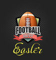 happy easter egg in form a football ball vector image vector image