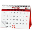 Holiday calendar halloween vector | Price: 1 Credit (USD $1)