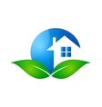 home realty ecology logo vector image vector image